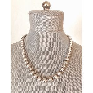 Tiffany & Co. Graduated Sterling Silver Necklace